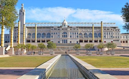 olympisch stadion van Montjuic de Barcelona Redactioneel