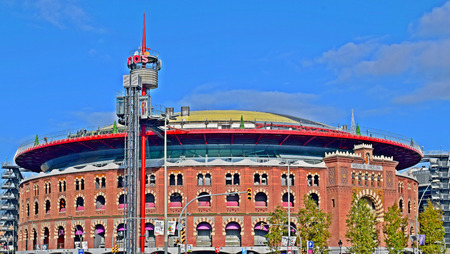 The Arenas Bullring in Barcelona Editorial