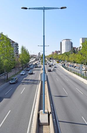 Ronda de Dalt in Barcelona Stock Photo