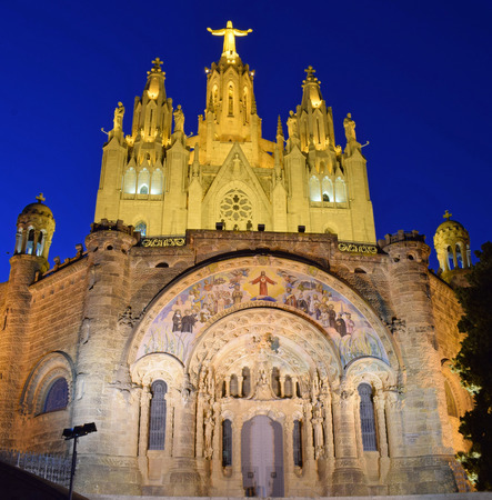 Church of Tibidabo, Colserola mountain in Barcelona
