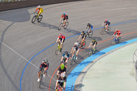 Velodrome of Horta in Barcelona Stock Photo - 100795555