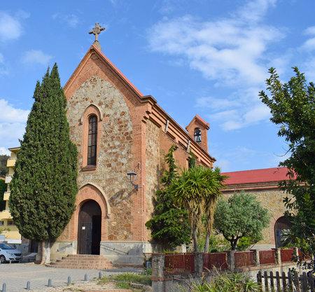 Parish Church of Sant Crist in Barcelona Banco de Imagens - 100769133
