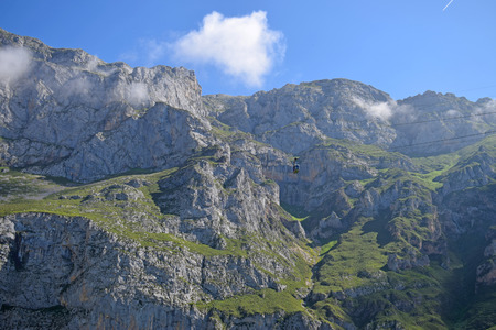 Landscape of Picos Europa in Asturias Spain
