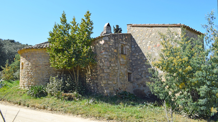 Hermitage of Sant Bartomeu de Cabanyes in Orrius Barcelona