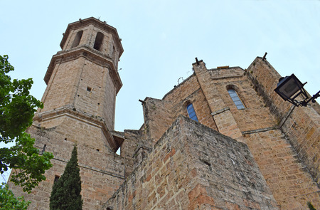 Church of Santa Eulalia in Esparraguera Barcelona 版權商用圖片