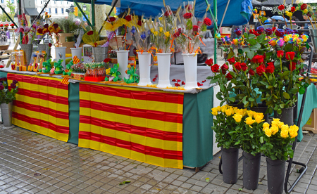 Roses of Sant Jordi in Catalonia Spain Stock Photo