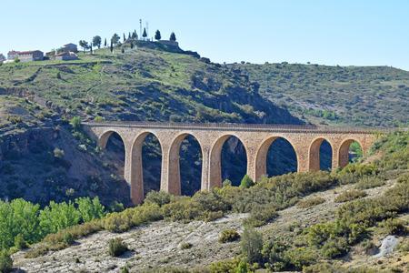 Via Verde Ojos Negros, from Teruel to Valencia Banque d'images