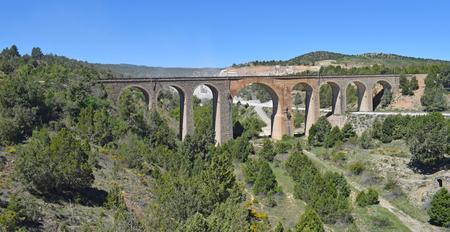 Via Verde Ojos Negros, de Teruel à Valence Banque d'images