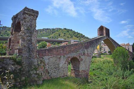 Devil's Bridge over the Llobrega River, Martorell Barcelona