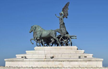 Monument to Vittorio Emanuele II in Rome Italy