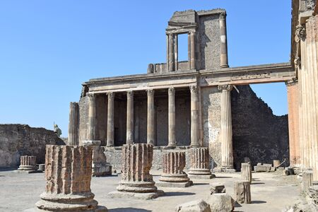 Pompeii, ancient city of Rome Stock Photo
