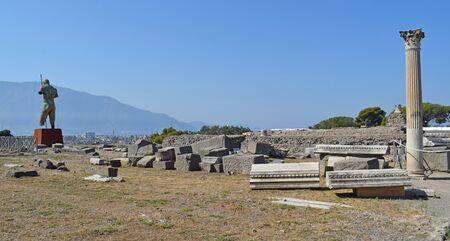 Pompeya, antigua ciudad de Roma Foto de archivo