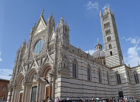 Siena Cathedral in Siena Florence Italy Stok Fotoğraf