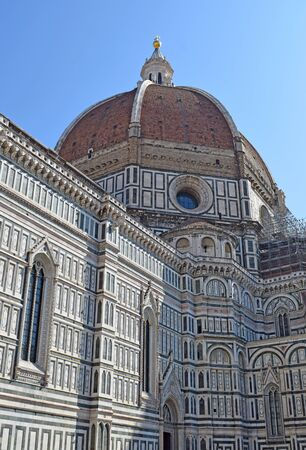 Cathedral of Santa Maria del Fiore (Duomo) in Florence Stok Fotoğraf