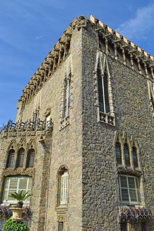 Bellesguard Tower, architect Antonio Gaudi in Barcelona Editorial