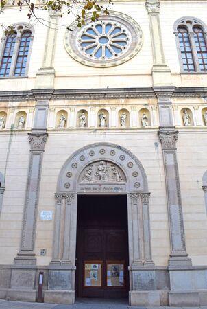 , Church of St. Mary in Mataro Barcelona Spain 版權商用圖片