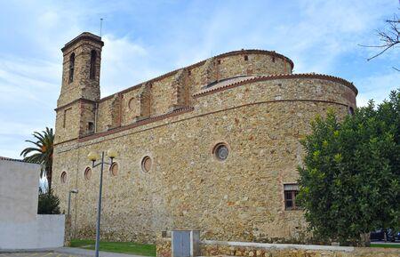 Church of St. Mary in Palafolls Barcelona Spain 新聞圖片