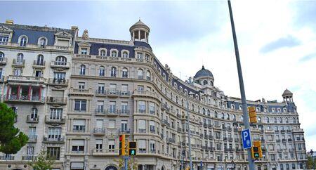 Classic buildings in Barcelona Catalonia Spain