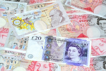 Close up photography money from united kingdom