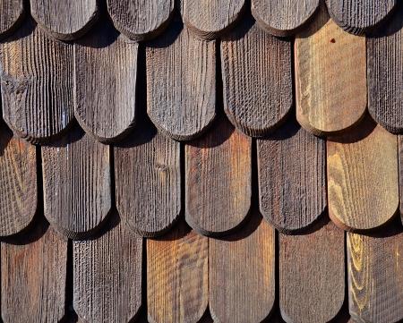 shingles: Tejas de madera patr�n Foto de archivo