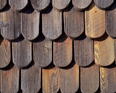 Wooden roof tiles pattern photo