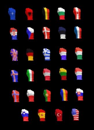 Flags of North Atlantic Treaty Organization members photo