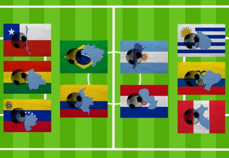 Football. Qualifying group. South America. Ten countries photo