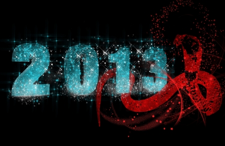 New 2013 Year inscription and a snake Stock Photo - 15688944