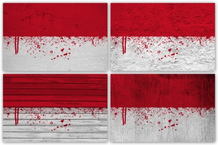 pennon: Collage of Monaco flag with different texture backgrounds Stock Photo