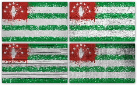 Collage of Abkhazia flag with different texture backgrounds Stock Photo - 15923869