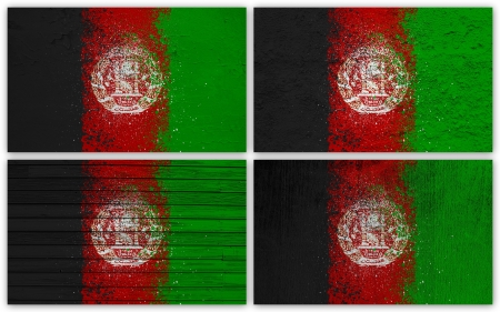 Collage of Afghanistan  flag with different texture backgrounds Stock Photo - 15923832