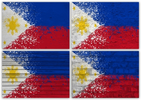 Collage of Philippines flag with different texture backgrounds Stock Photo - 15923901