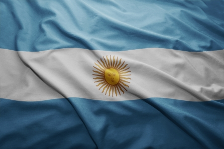 pennon: Waving colorful Argentinean flag