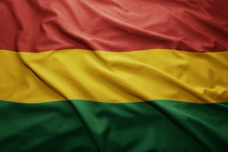 pennon: Waving colorful Bolivian flag