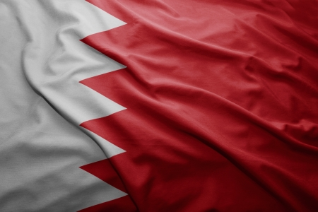 pennon: Waving colorful Bahrain flag