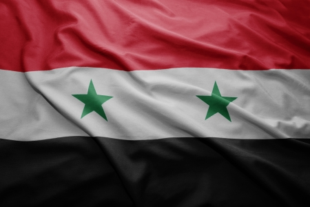 Waving colorful Syrian flag photo