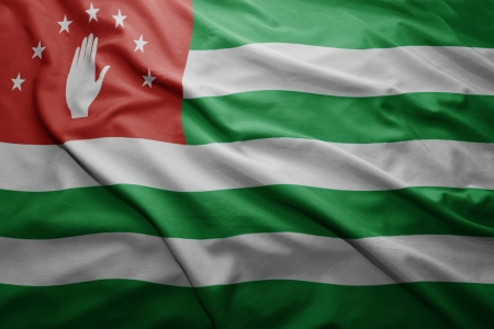 pennon: Waving colorful Abkhazian flag
