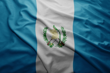 Waving colorful Guatemalan flag photo