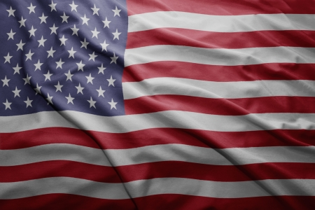 Waving colorful United states of america flag photo