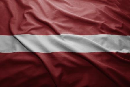 Waving colorful Latvian flag