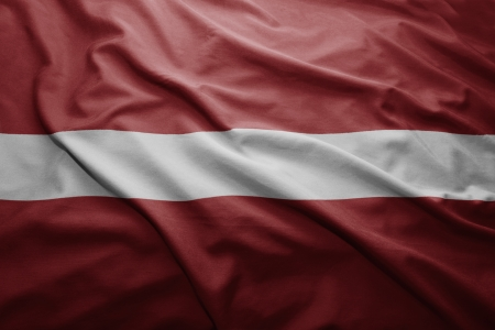 pennon: Waving colorful Latvian flag
