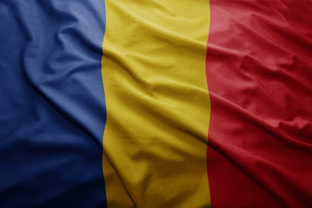 romanian: Waving colorful Romanian flag