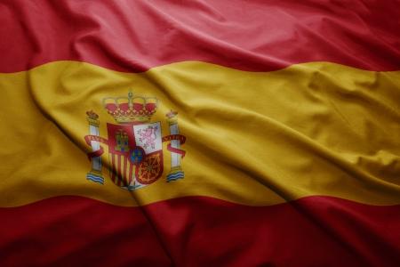 spanish: Waving colorful Spanish flag