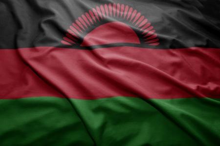 malawi: Waving colorful Malawi flag