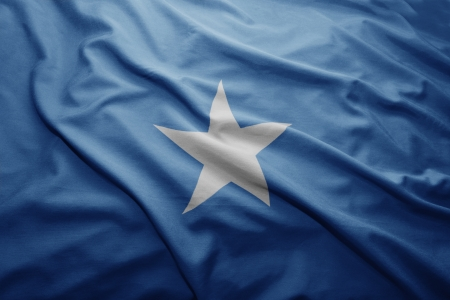 somalian: Waving colorful Somalian flag