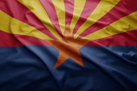 Waving colorful Arizona flag 版權商用圖片