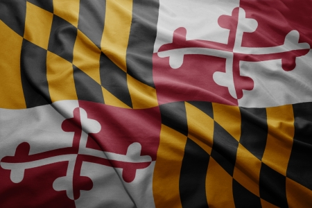 maryland flag: Waving colorful Maryland flag Stock Photo