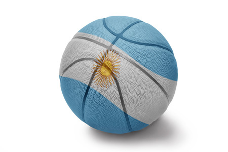 Basketball ball with the national flag of Argentina on a white background photo
