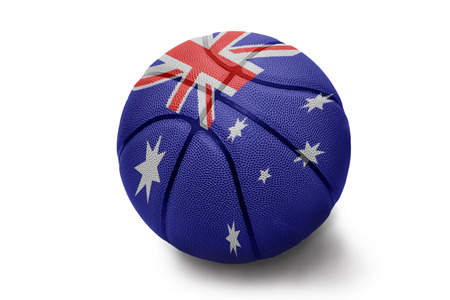 Basketball ball with the national flag of Australia on a white background photo