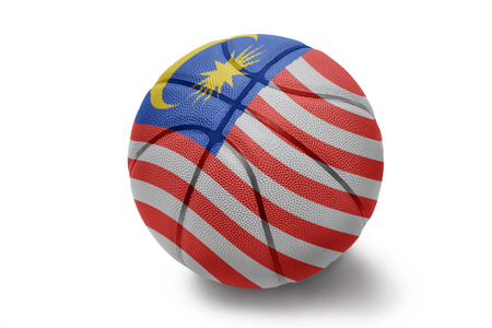 Basketball ball with the national flag of Malaysia on a white background photo